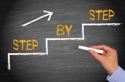 Stap voor stap - Prestaties en Verbetering Royalty-vrije Stock Fotografie