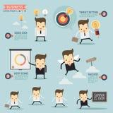 Stap voor succes bedrijfsconcept royalty-vrije illustratie