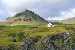 Stapafell berg i den Snaefellsnes halvön Arkivfoto