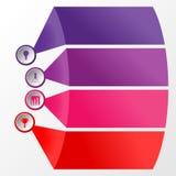 4 stapcirkel infographic met informatieruimte Royalty-vrije Stock Fotografie
