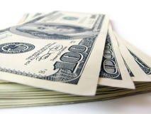 Stapel $ 100 rekeningen Royalty-vrije Stock Fotografie