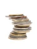 Stapel 2 van muntstukken Royalty-vrije Stock Fotografie