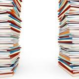 Stapel 3d der Bücher auf weißem Hintergrund Lizenzfreie Stockbilder