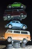 Stapel alte Autos Stockfoto