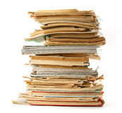 Stapel alte Bücher als Hintergrund Lizenzfreies Stockbild