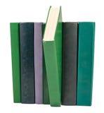 Stapel alte Bücher getrennt auf Weiß Lizenzfreies Stockbild