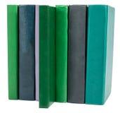 Stapel alte Bücher getrennt auf Weiß Lizenzfreies Stockfoto