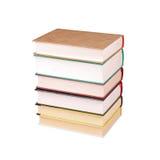 Stapel alte Bücher lokalisiert Stockbild