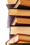 Stapel alte Bücher lokalisiert auf Weiß Lizenzfreie Stockbilder