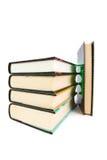 Stapel alte Bücher lokalisiert auf Weiß Stockfoto