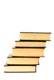 Stapel alte Bücher lokalisiert auf Weiß Stockbild
