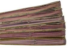 Stapel alte Dateien Lizenzfreies Stockbild