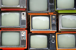 Stapel alte Fernsehen Lizenzfreies Stockbild