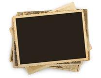 Stapel alte Fotos lokalisiert Lizenzfreie Stockbilder