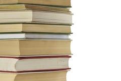 Stapel alte geschlossene Bücher, lokalisiert Stockbilder