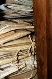 Stapel alte Ordner und Dateien lizenzfreie stockbilder