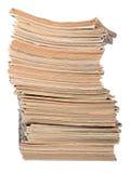 Stapel alte Zeitschriften auf einem Weiß Lizenzfreie Stockfotografie