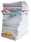 Stapel Altpapier Lizenzfreie Stockbilder