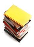 Stapel av böcker - clippingbana Arkivbilder