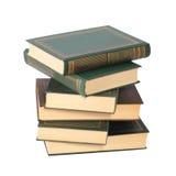 Stapel av böcker isolerat Royaltyfria Foton