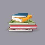 Stapel av böcker också vektor för coreldrawillustration Royaltyfri Fotografi