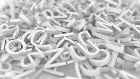 Stapel av bokstäver Begreppsmässig animering 3D vektor illustrationer