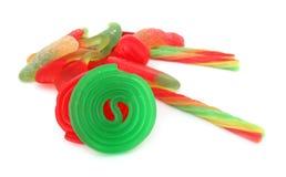 Stapel av färgrika sötsaker Fotografering för Bildbyråer