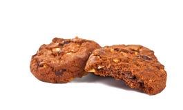 Stapel av isolerade choklad kaka Arkivbilder