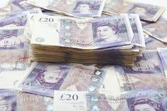 Stapel av pengar Arkivfoton