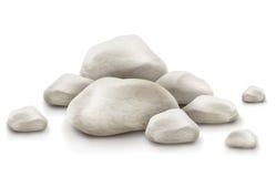 Stapel av stenar som isoleras på vit bakgrund Arkivfoton