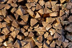 Stapel av trä Royaltyfri Fotografi