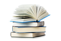 Stapel Bücher getrennt Lizenzfreie Stockfotos