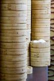 Stapel Bambusreisdampfer Lizenzfreies Stockbild