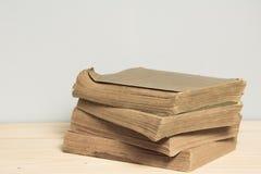 Stapel benutzte alte Bücher Lizenzfreies Stockbild