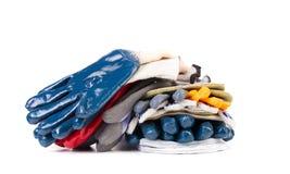 Stapel beschermende handschoenen Royalty-vrije Stock Foto's
