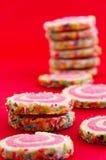 Stapel bestrooide koekjes Royalty-vrije Stock Afbeelding