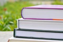 Stapel Boeken in de Tuin Royalty-vrije Stock Afbeelding