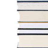 Stapel boeken, die op wit wordt geïsoleerdc stock foto's