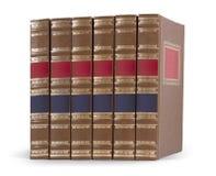 Stapel boeken op wit worden geïsoleerd dat Royalty-vrije Stock Afbeeldingen