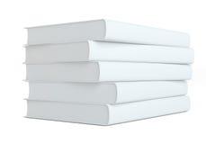 Stapel Boeken op witte achtergrond Stock Foto
