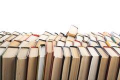 Stapel Boeken op witte achtergrond Het concept van het onderwijs Terug naar School Royalty-vrije Stock Afbeeldingen