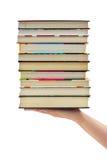Stapel boeken ter beschikking Stock Afbeelding