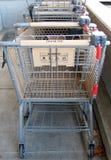 Stapel boodschappenwagentjes Stock Fotografie