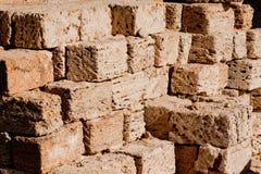 Stapel bouwmaterialen Royalty-vrije Stock Foto's