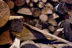 Stapel Brennholz Stockbilder