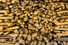Stapel Brennholzlogs stockfotos