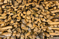 Stapel Brennholzlogs stockbild