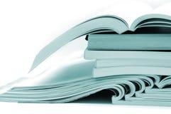 Stapel brochures en tijdschriften Royalty-vrije Stock Fotografie