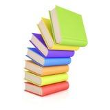 Stapel bunte Bücher lizenzfreie abbildung