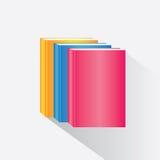 Stapel bunte Bücher Stockfotos